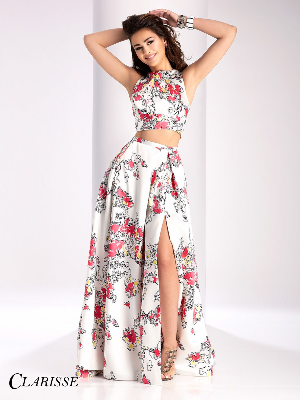 Clarisse Two Piece Print Prom Dress 3002 | Unique prom dresses ...