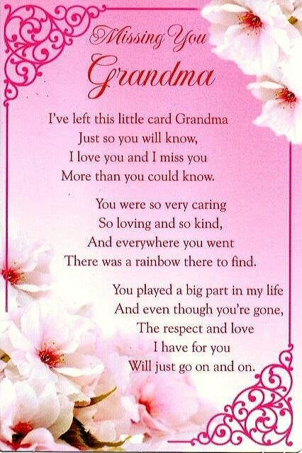 Missing you grandma | Grandma Gifts from Kids | Pinterest | Grief ...