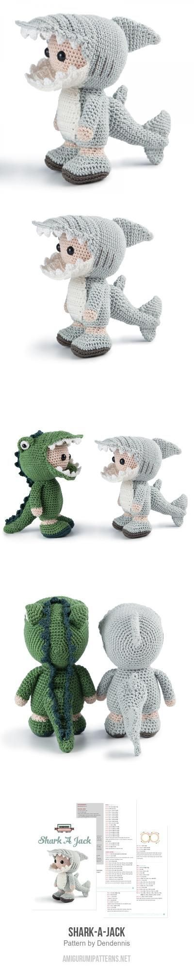 Shark-A-Jack amigurumi pattern by Dendennis | Patrones amigurumi ...