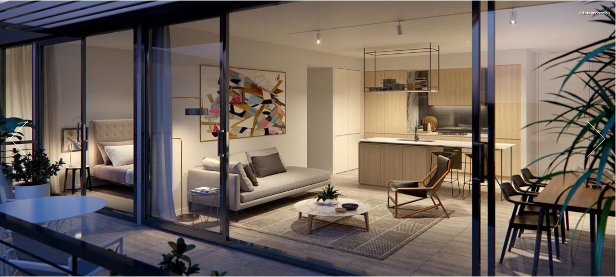 Bijou, Balmain Kitchen / Living Area. Apartments for