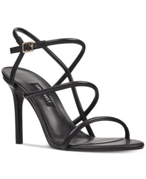 20bf237a5b4b74 Nine West Merica Dress Sandals - Black 10.5M