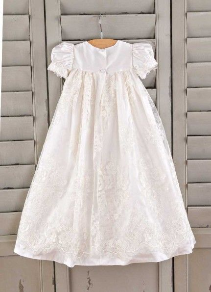 f3a65dd31d2 Chloe Christening Gown | One Small Child, Silk Baptism Gowns for Girls