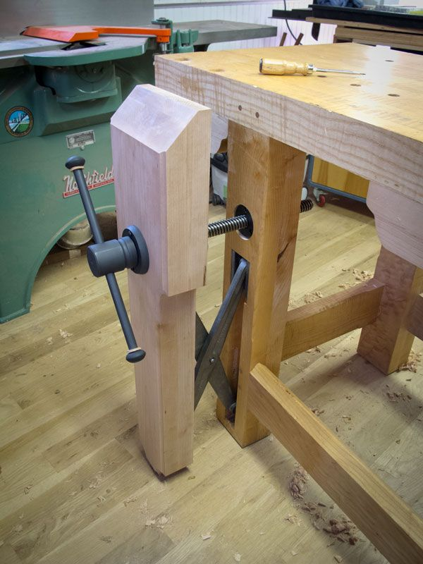 Holtzapffel Bench Part - 26: This Morning I Completed Installing The New Leg Vise On My Holtzapffel  Workbench That Is Powered