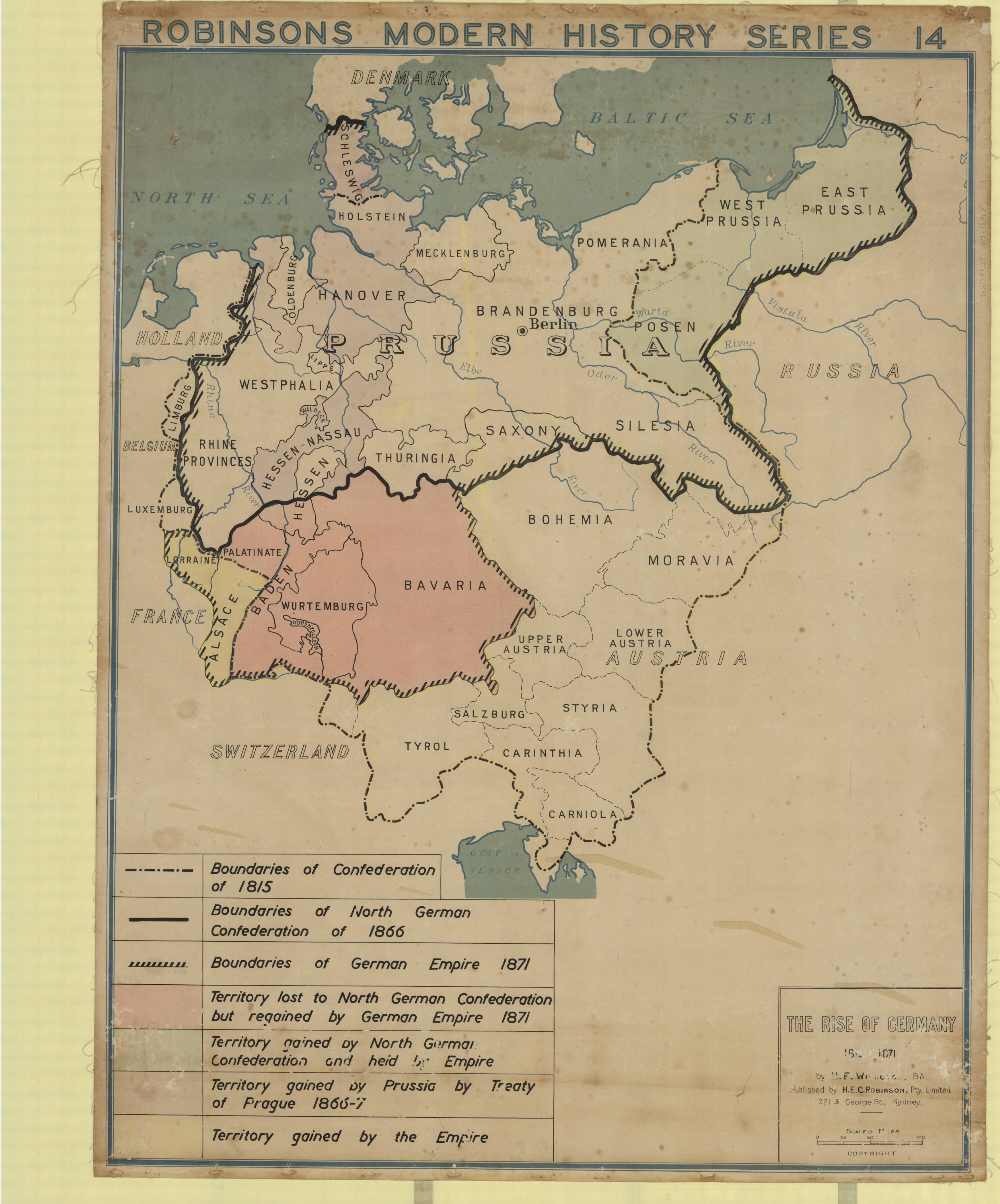 The Rise Of Germany 1815 1871 Published In The Early 20th