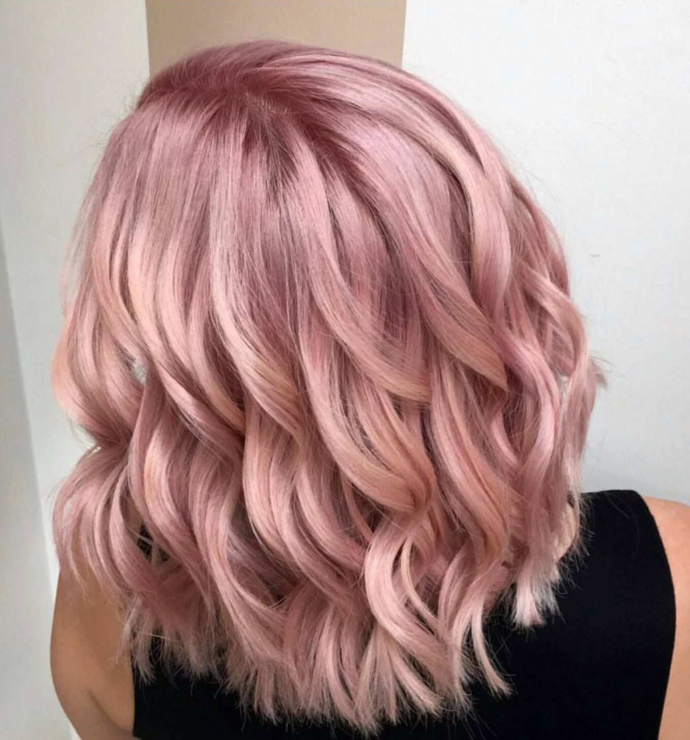 Light Pink Cotton Candy Hairspiration Rose Champagne Tones