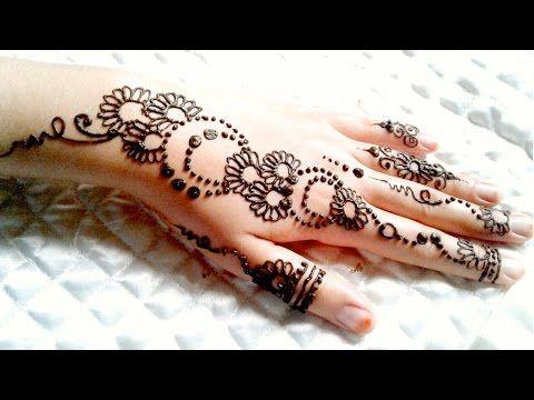 تعليم النقش بالحناء للمبتدئين مع موديل صيفي سهل و بسيط Youtube Beginner Henna Designs Learn Henna Learn Henna Design