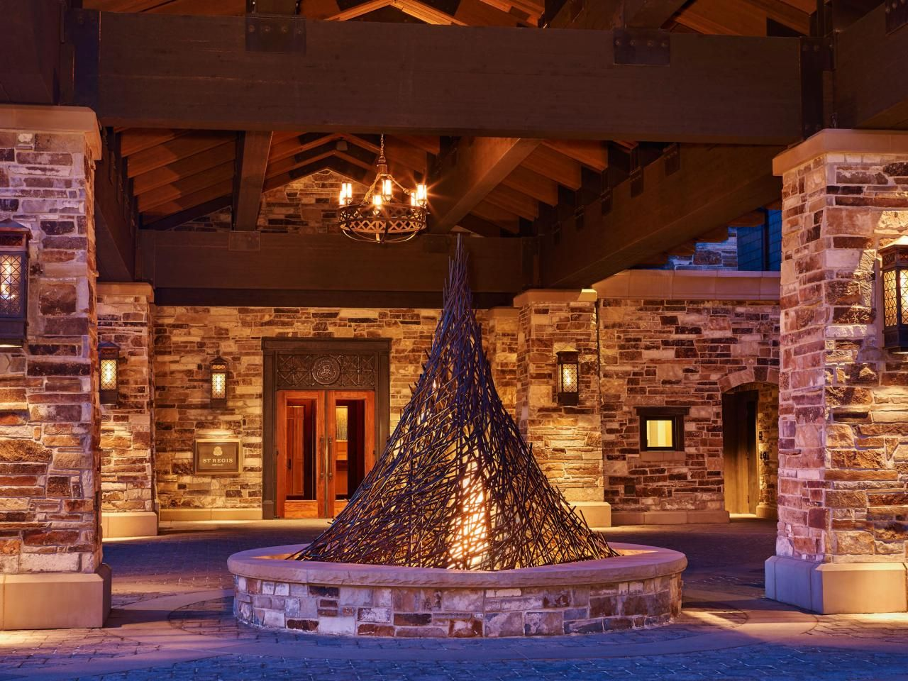 Even the entrance to the St. Regis Deer Valley has an ...