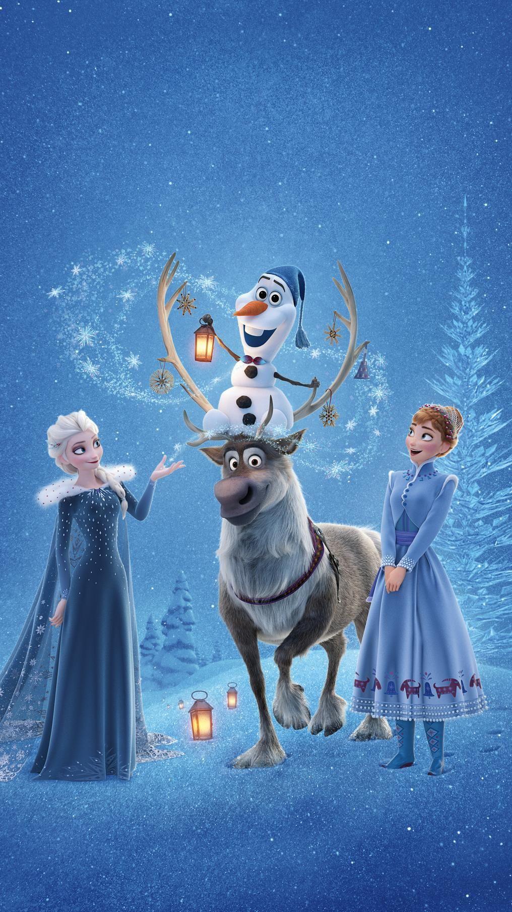 Olaf's Frozen Adventure (2017) Phone Wallpaper in 2020