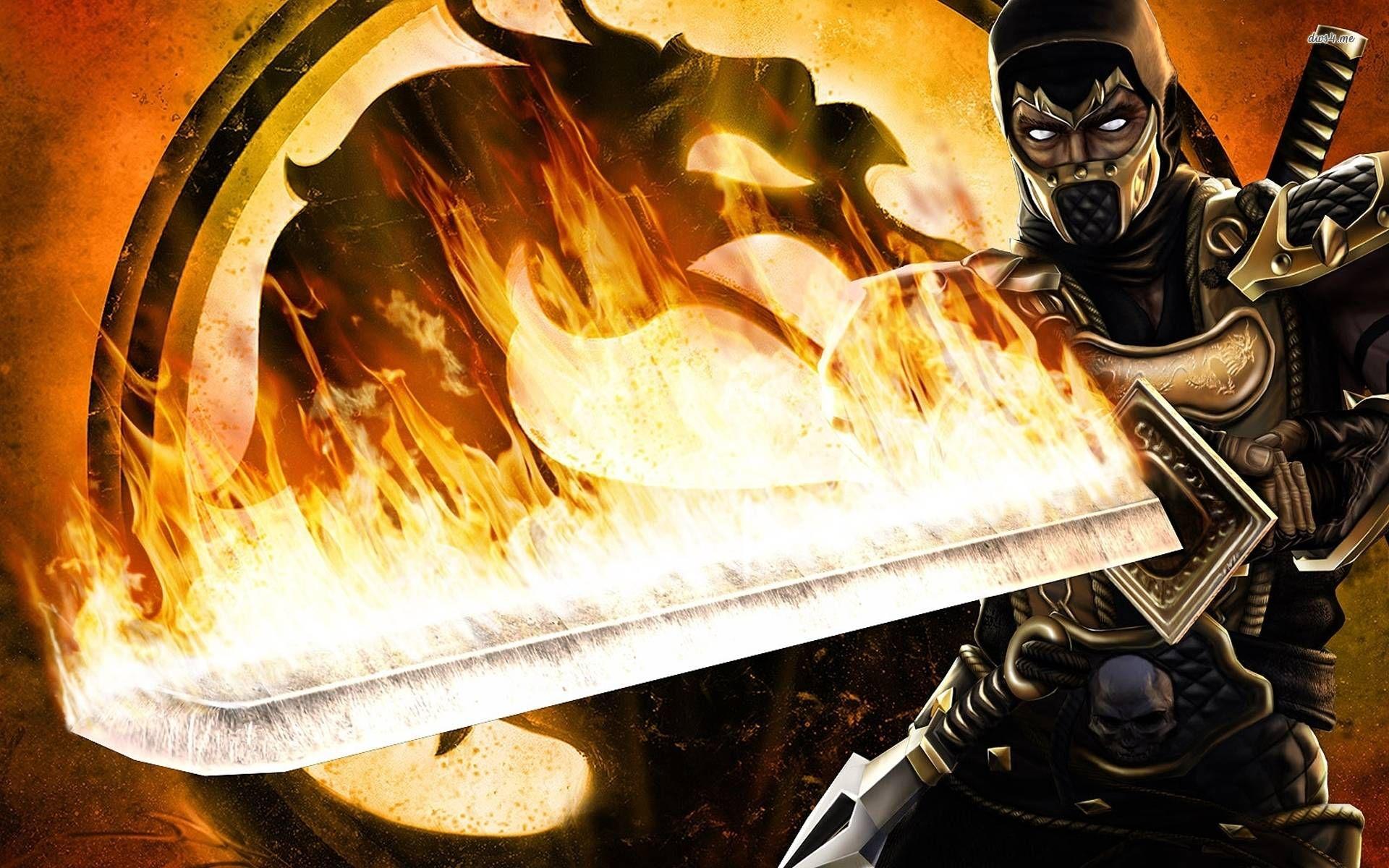 Mortal Kombat Scorpion Wallpaper Free 1px Mortal Kombat X Wallpapers Mortal Kombat Shaolin Monks Mortal Kombat X Scorpion