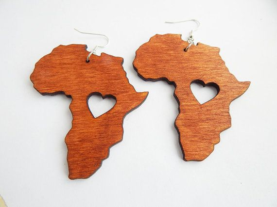 Africa earrings wooden jewelry african ethnic pendant afrocentric africa earrings wooden africa shape jewelry africa map continent motherland african earring africa pendant by theblackertheberry mozeypictures Choice Image