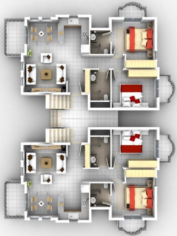 plano dos departamentos, plano complejo departamento, planos de