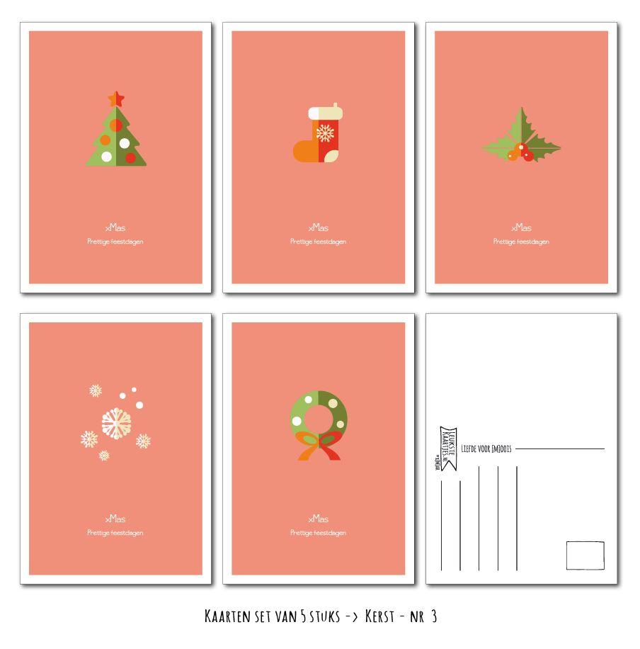 Kaarten set Kerst van LeuksteKaartjes.nl by xMar http://xmar.nl/leukstekaartjes.nl-webwinkel.html
