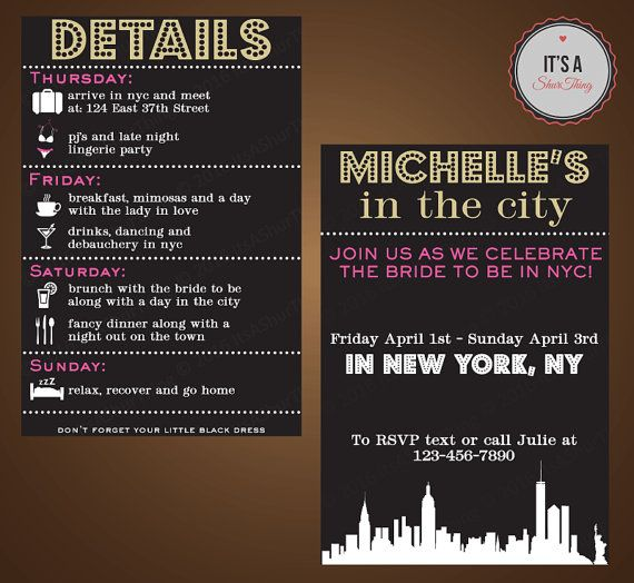 I Only Like The Part That Says Join Us As We Celebrate Bride To Be In Nyc