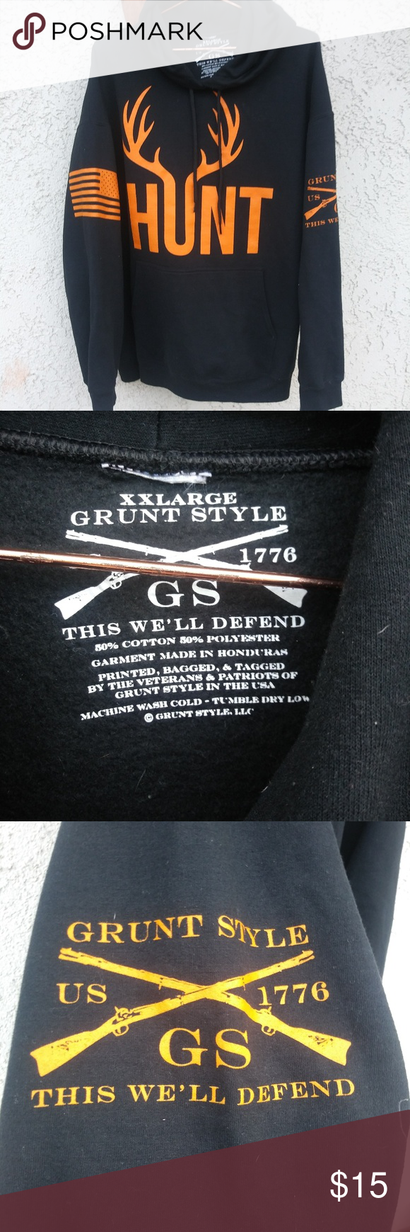 1119a0a248cef Grunt Style HUNT hoodie Grunt Style hoodie with the words hunt printed on  the front and