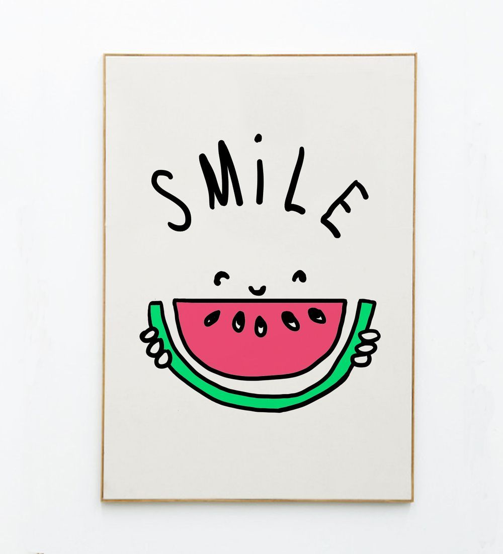 Poster Smile via Mathilde Cabanas stationery. Click on the image to see more!