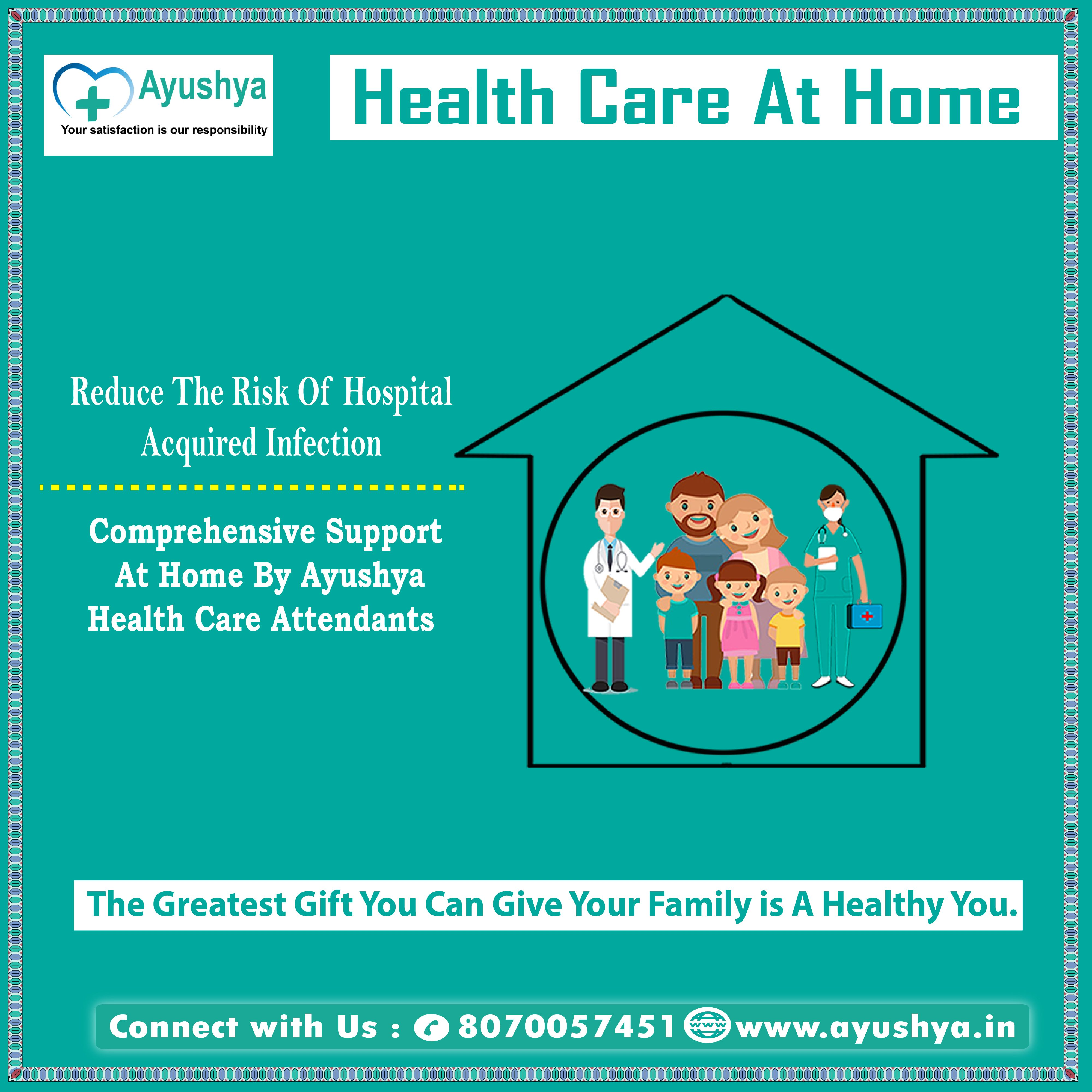 Health care at home reduce the risk of hospital acquired