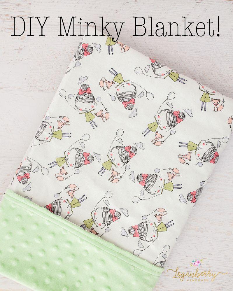 minky baby blanket sewing tutorial, free sewing pattern, minky ...