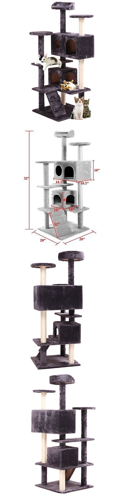 Furniture And Scratchers 20740: Pet House Cat Tree Tower Condo Furniture  Scratch Post Kitty Play