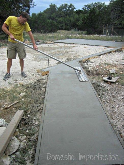 Diy Garage Foundation Tools For Concrete Work Diy Garage