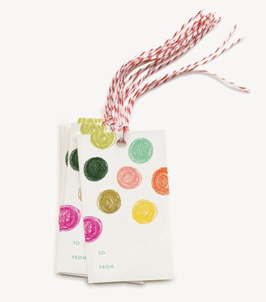 Party Dots Gift Tags
