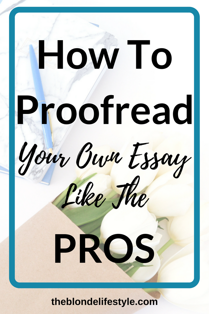 Proofreading your College Admissions Essays