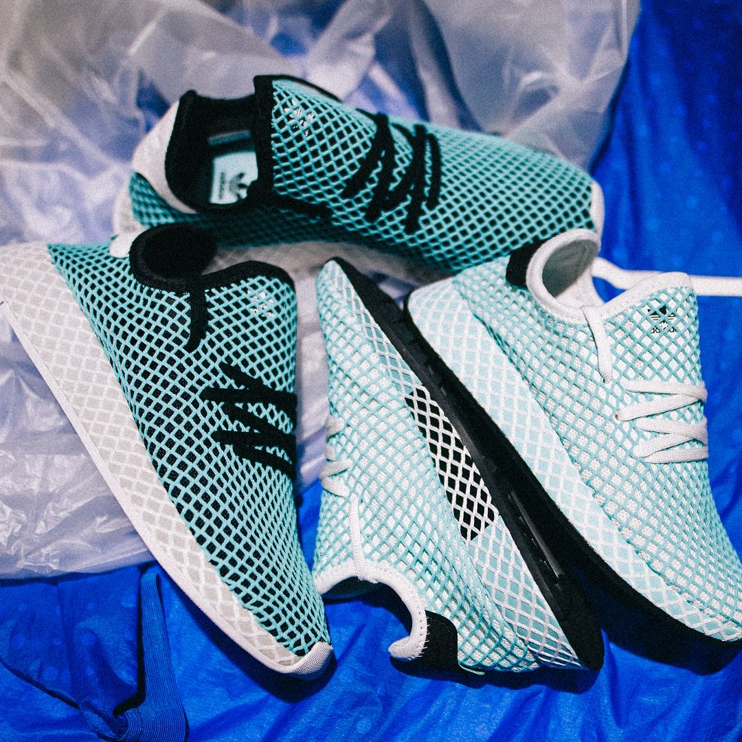 0d5fe24fc adidas Deerupt Runner Parley Shoes - CQ2908 - ocean environment shoe -  fight against plastic.