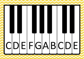 Music  Keyboard Posters  Freebie  Teaching    Music