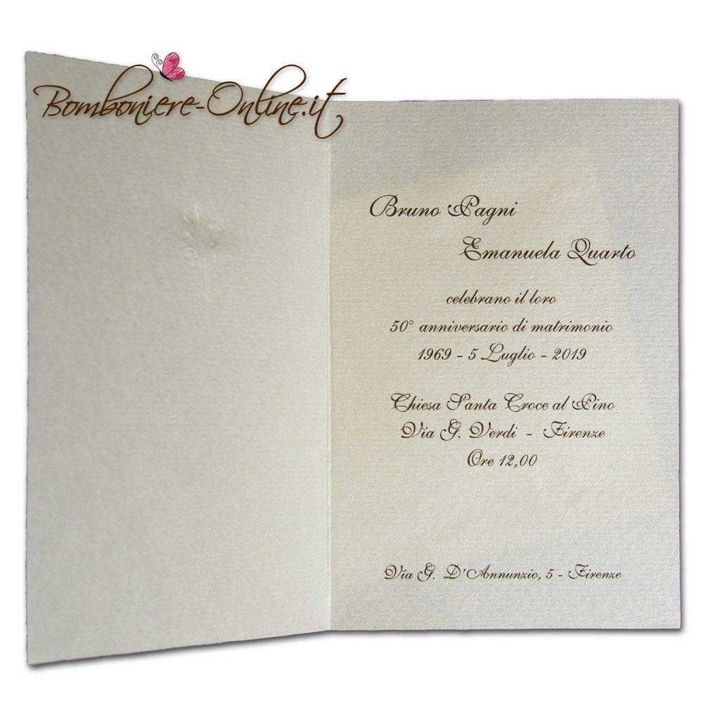 Partecipazioni 50 Anni Matrimonio.Pin Di Madebyladyri Su Nozze D Oro Nozze D Oro Anniversario Nozze