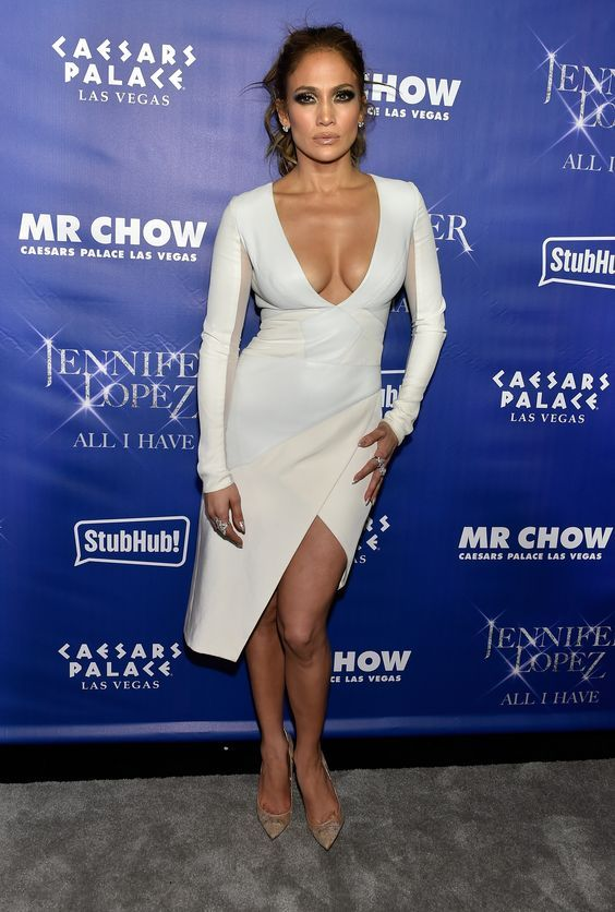 Jennifer Lopez Tea Length Dresses
