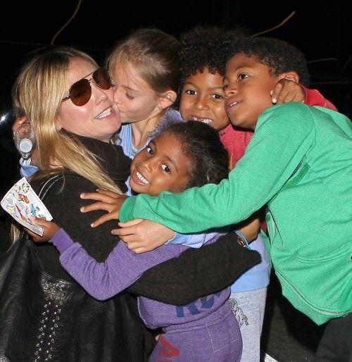 Heidi Klum and her four kids - Leni, 8, Henry, 7, Johan, 6, and Lou, 3