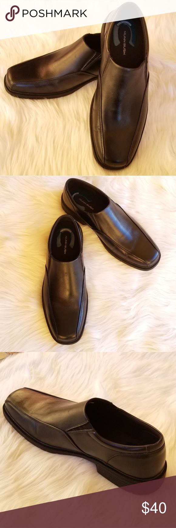 Nunn Bush men's black leather loafers