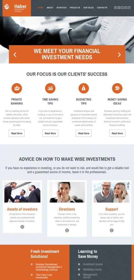 Investment website template for business company business website motocms 3 website template for business suitable for non developers wajeb Gallery