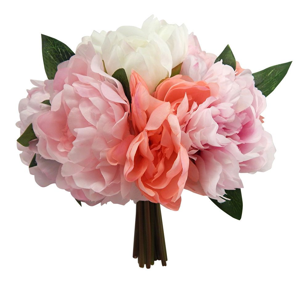Peony Bouquets Many Colors Peonies Bridal Silk Wedding Flowers
