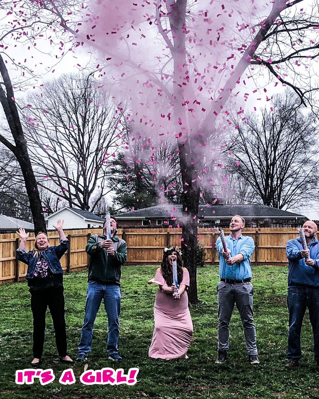 Gender Reveal Powder Cannon Pink Gender Reveal Smoke Gender Reveal Confetti Gender Reveal