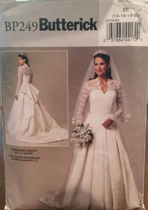 Butterick Bridal Recreation Of Kate Middleton S Royal By Wrapsetc