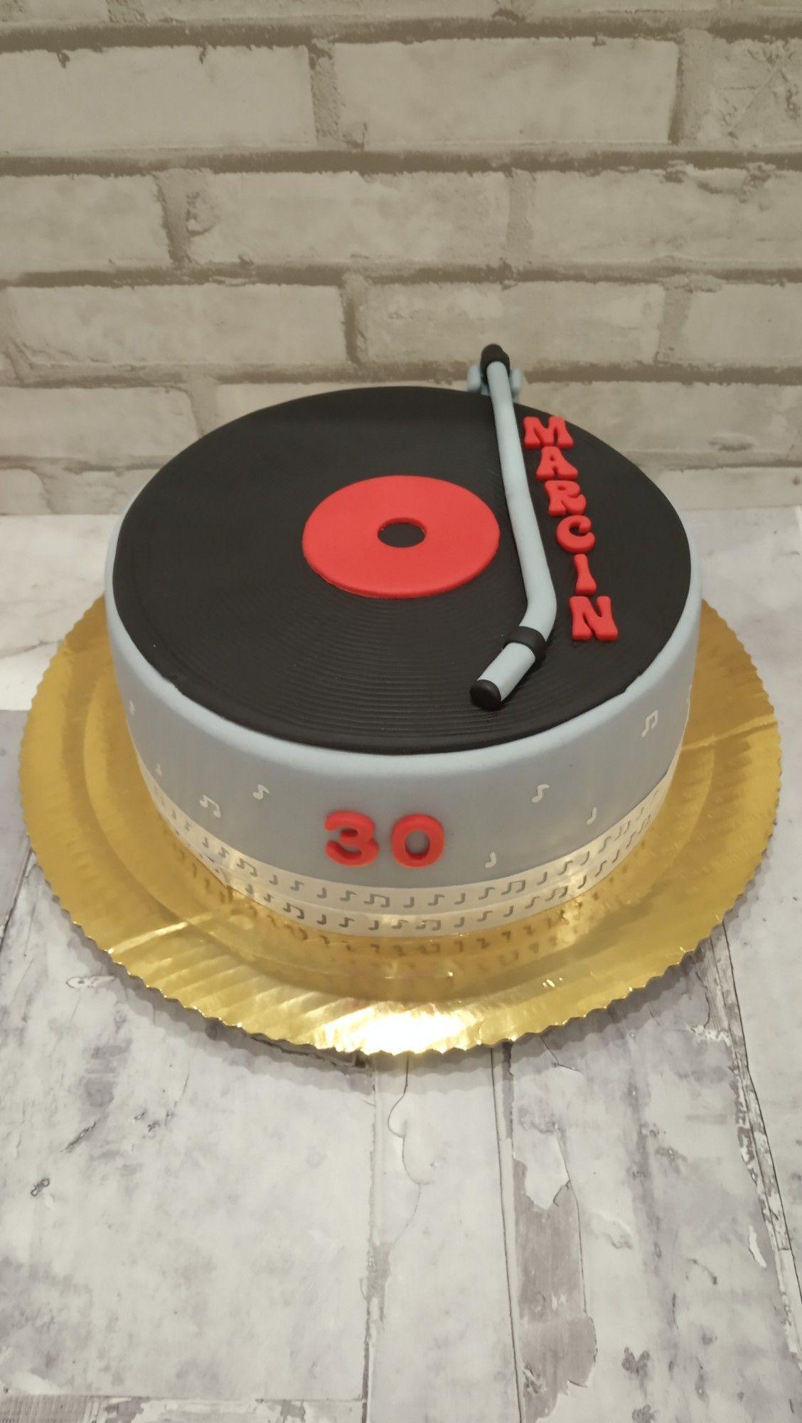 Tort Na 30 Urodziny Dla Dj Z Plyta Winylowa 30 Urodziny Tort