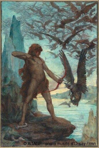 Les Oiseaux Du Lac Stymphale : oiseaux, stymphale, Edgard, Maxence, Heracles, Detruit, L'oiseaux, Stymphale., Легенды,, Рисунок,, Живопись