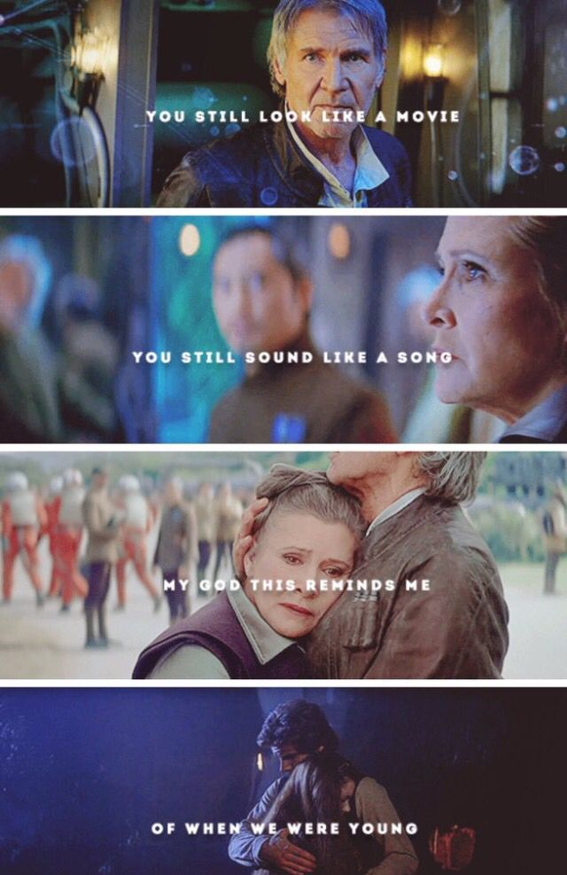 I'm still sad about what happened to Han. ;-; Yet, Han and Leia are the best Disney couple ever, and always will be.