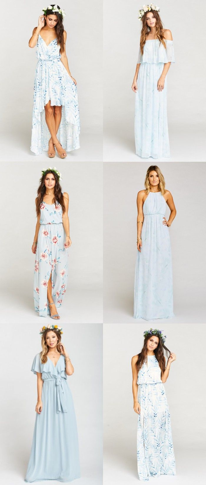 Light Blue Mix and Match Bridesmaid Dresses | Selbstgemachte ...