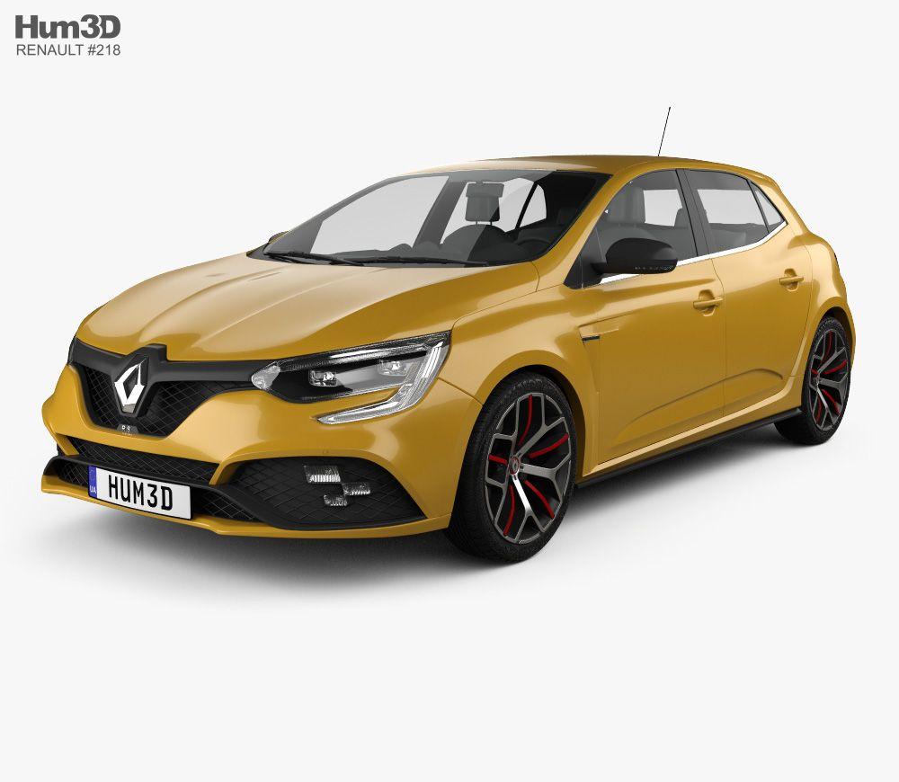 3d Model Of Renault Megane Rs Trophy 300 Hatchback 2018 Renault Megane Hatchback Renault