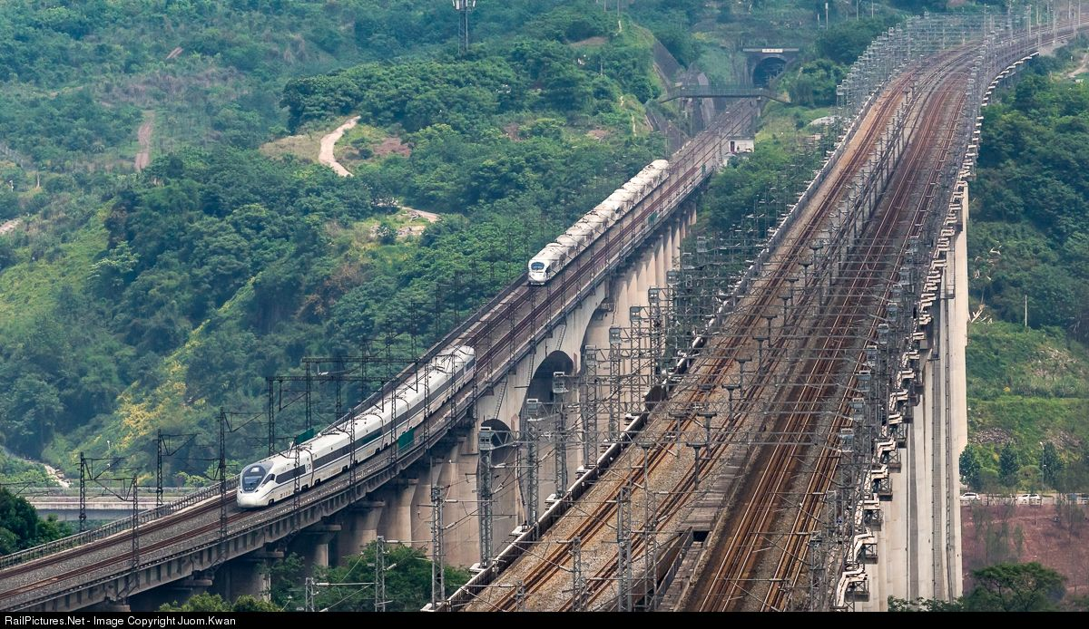 Chinese National Railway Crh380d At Chongqing China By Juom Kwan Railway Chongqing High Speed Rail