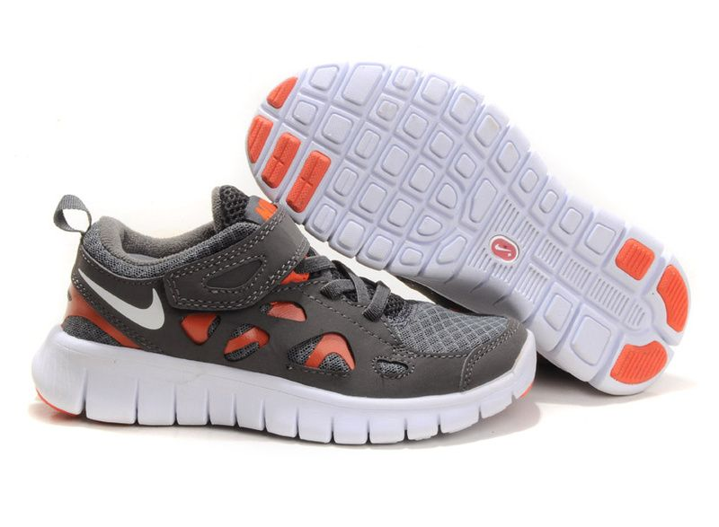Nike Free Runs 2 Kids Carbon Grey Orange