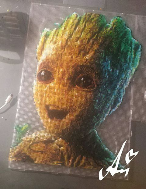 Baby Groot From Guardians Of The Galaxy Bead Art Hama