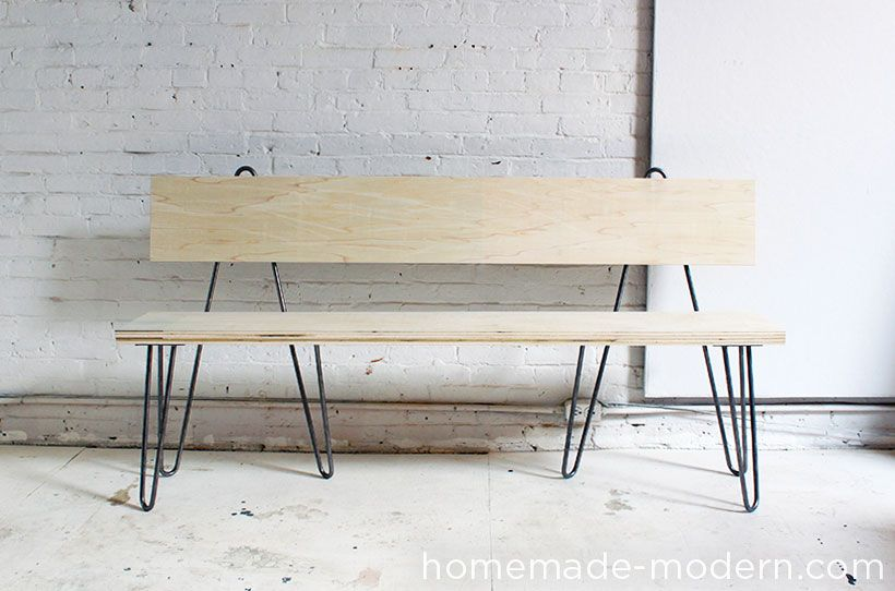 Homemade Modern Diy Hairpin Bench Options Diy Furniture Chair Dining Bench With Back Diy Dining