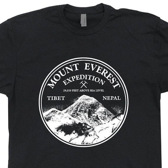 Mount Everest Expedition T Shirt Vintage Soft Mountain Climbing Shirts Ski Snowboard T Shirt Cool T Shirt