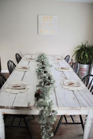 christmas, table, tablescape, dining table, setting, table setting ...
