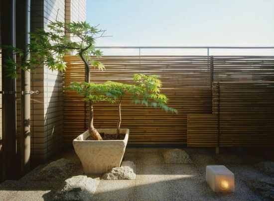 Bambus Balkon Sichtschutz Gestaltung Ideen für Feng Shui