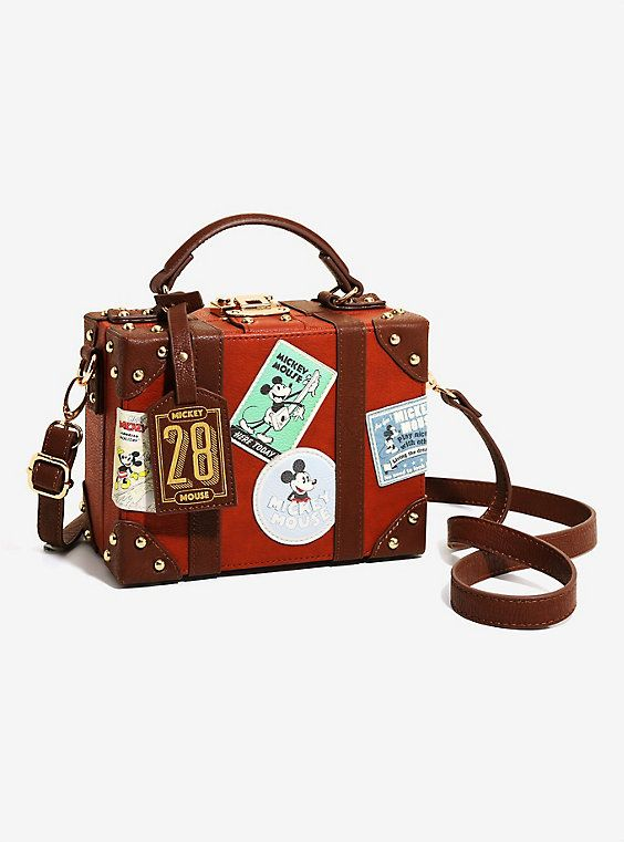 ebf8a159d43 Loungefly Disney Mickey Mouse Patch Trunk Crossbody - BoxLunch Exclusive