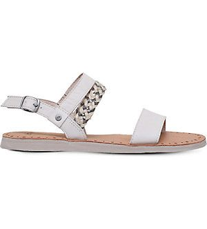 Dune Black Loyal Studded Suede Sandals Suede Sandals