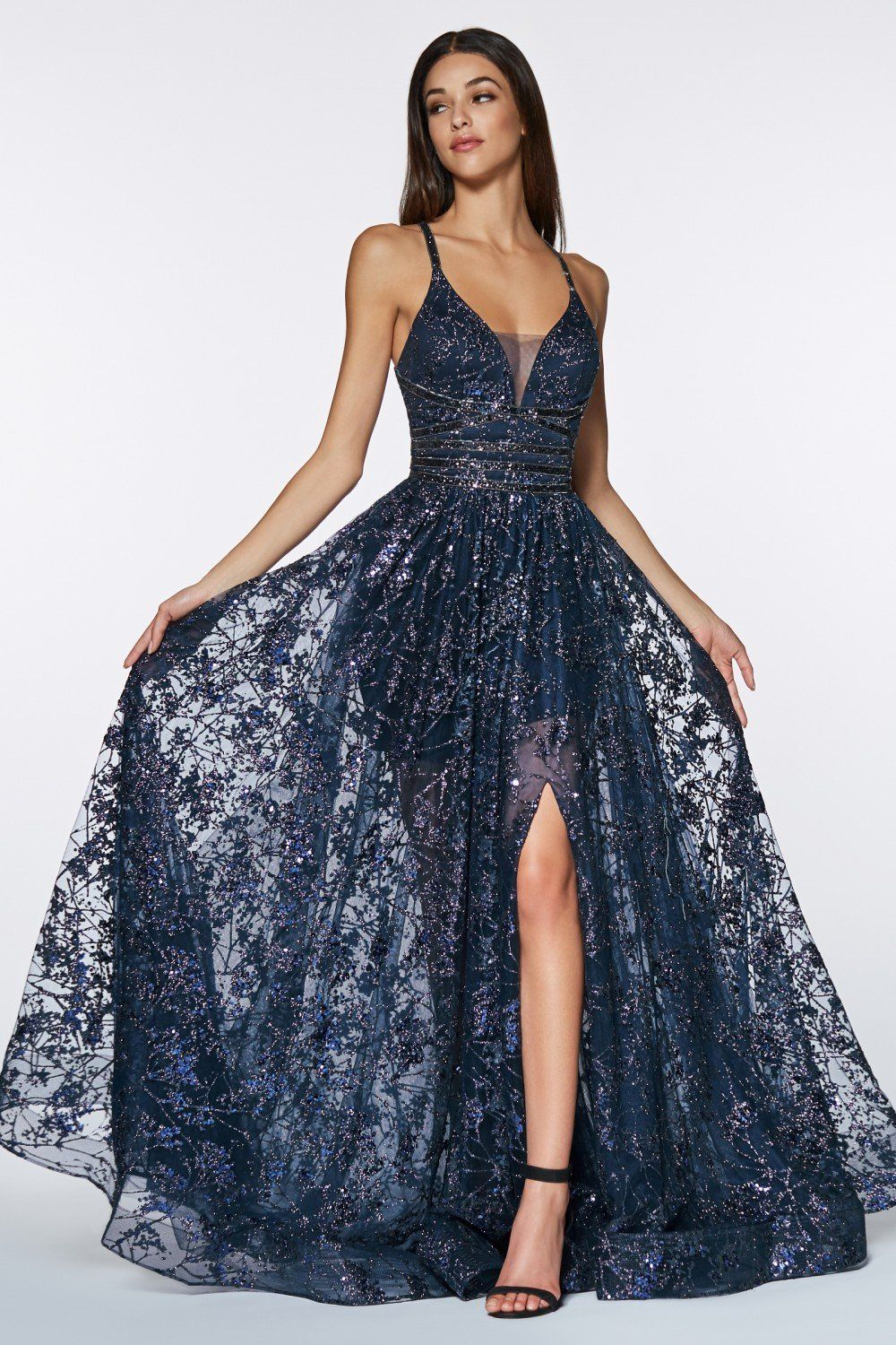 a08f12c0c23 Cinderella Divine Chart I CD CM9015 - Glitter ball gown with criss cross  open back and